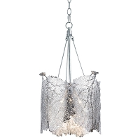 Sea Fan Chandelier Large in Polished Nickel