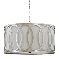 Fusion Chandelier in Silver Leaf