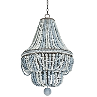 Malibu Chandelier in Weathered Blue