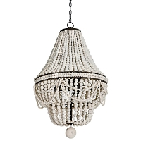 Malibu Chandelier in Weathered White