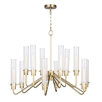 Neo Chandelier Large in Natural Brass