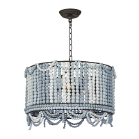 Malibu Drum Pendant in Weathered Blue
