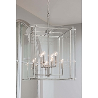 Jane Lantern Large in Polished Nickel