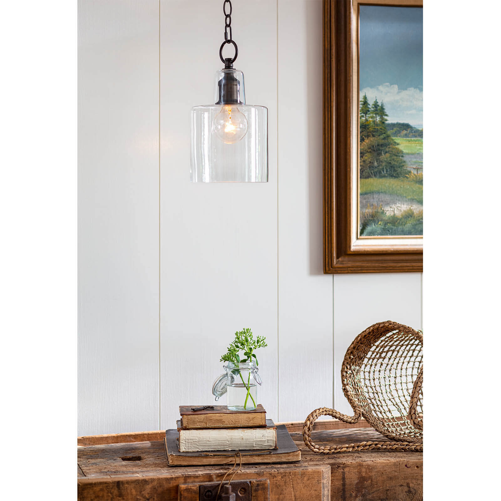 Dutch Glass Pendant Oil Rubbed Bronze | Regina Andrew