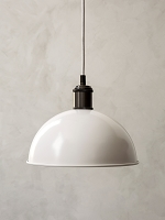 Hubert Pendant 9in Ivory/Bronzed Brass