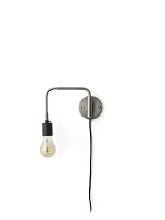 Staple Wall Lamp Brushed Steel