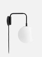 Staple Wall Lamp Black and one TR Matte Bulb