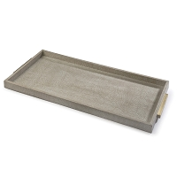 Rectangle Shagreen Boutique Tray in Ivory Grey Python