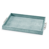 Shagreen Rectangle Tray in Turquoise
