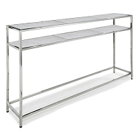 Echelon Console Table in Polished Nickel