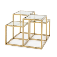 Astoria Side Table in Gold