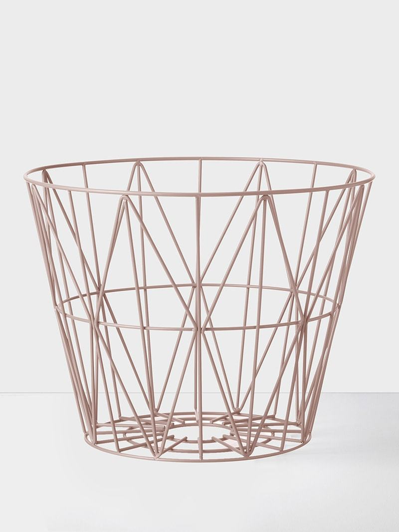 Wire Basket Rose Large | Ferm Living