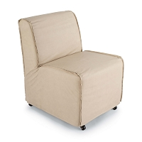 Rolling Slipper Chair in Cappuccino