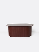Podia Table Oval Red Brown | Ferm Living