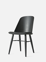 Synnes Chair Black Ash Legs Nevotex Dakar 0842 Nero Leather Black