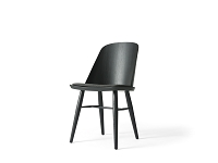 Synnes Dining Chair Black Ash w. Kvadrat Basel 183 Fabric Black