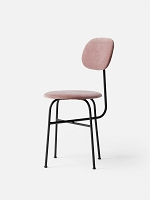 Afteroom Dining Chair Plus Black Legs Nevotex Ritz 4512 Fabric Dusty Rose Seat & Back