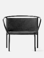 Afteroom Lounge Chair Sorensen Dunes 21003 Leather Black