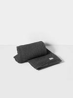 Organic Bath Towel Dark Grey | Ferm Living
