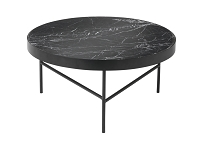Marble Table Black Marquina Large | Ferm Living
