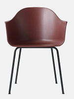 Harbour Chair Legs in Black Steel and Shell in Burned Red