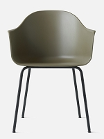 Harbour Chair Legs in Black Steel and Shell in Olive