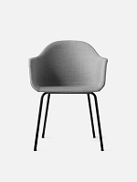 Harbour Chair Legs in Black Steel and Fabric Shell Kvadrat Remix 2 123 Grey