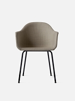 Harbour Chair Legs in Black Steel and Fabric Shell Kvadrat Remix 2 233 Sandy Brown