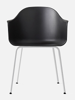 Harbour Chair Legs in White Steel and Shell in Black