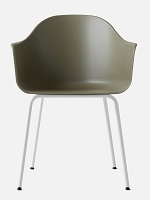 Harbour Chair Legs in White Steel and Shell in Khaki