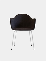Harbour Chair Legs in White Steel and Fabric Shell Kvadrat Fiord 191 Charcoal