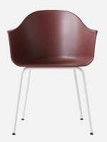 Harbour Chair Legs in White Steel and Shell in Burned Red