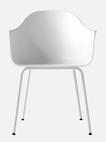 Harbour Chair Legs in White Steel and Shell in White