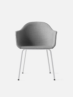 Harbour Chair Legs in White Steel and Fabric Shell Kvadrat Remix 2 123 Grey