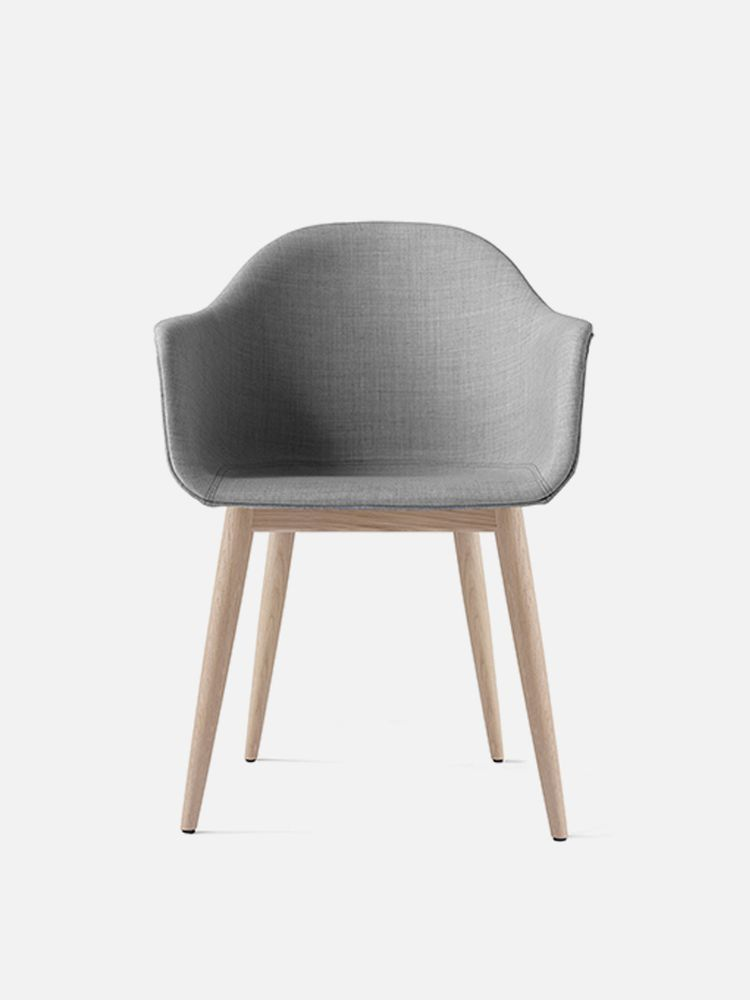 Harbour Chair Legs in Natural Oak and Fabric Shell Kvadrat Remix 2 123 Grey
