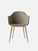 Harbour Chair Legs in Natural Oak and Fabric Shell Kvadrat Remix 2 233 Sandy Brown