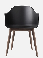 Harbour Chair Legs in Dark Oak and Shell in Black