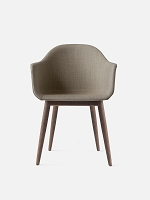 Harbour Chair Legs in Dark Oak and Fabric Shell Kvadrat Remix 2 233 Sandy Brown