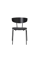 Herman Chair Black/Seat Dark Grey | Ferm Living