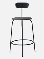 Afteroom Counter Chair Black Legs Kvadrat Basel 183 Fabric Black