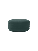 Pouf Oval Dark Green Medium | Ferm Living