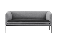 Turn Sofa 2 Wool Light Grey/Dark Grey | Ferm Living