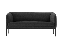 Turn Sofa 2 Wool Solid Dark Grey | Ferm Living