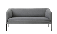 Turn Sofa 2 Cotton Solid Light Grey | Ferm Living