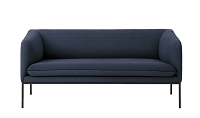 Turn Sofa 2 Cotton Solid Blue | Ferm Living