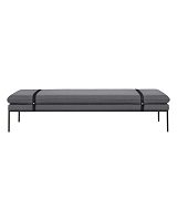 Turn Daybed Fiord Solid Light Grey Black | Ferm Living