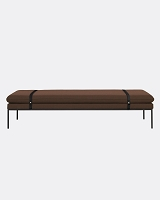 Turn Daybed Fiord Solid Rust Black | Ferm Living