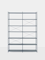 Punctual Shelving System Dark Blue 2x7 | Ferm Living