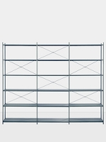 Punctual Shelving System Dark Blue 3x6 | Ferm Living