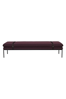Turn Daybed Fiord Solid Bordeaux Black | Ferm Living